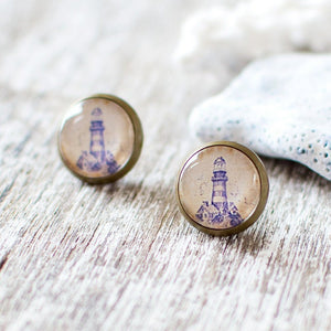 Blue Lighthouse Earrings