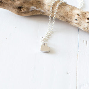 Tiny Heart Charm Necklace