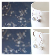 Silver Plated Spiral Earrings
