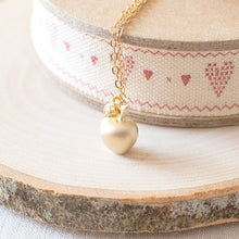 Gold Apple Charm Necklace