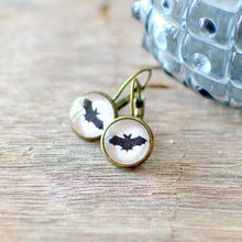 Black Bat Earrings