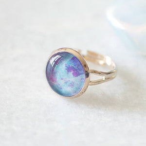 Blue and Magenta Galaxy Ring