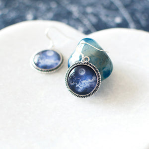 Blue Moon in the Clouds Earrings