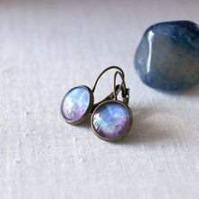 Blue and Red Galaxy Earrings