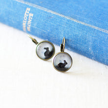 Black Bunny Earrings