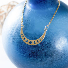 Crescent Moon Phases Necklace