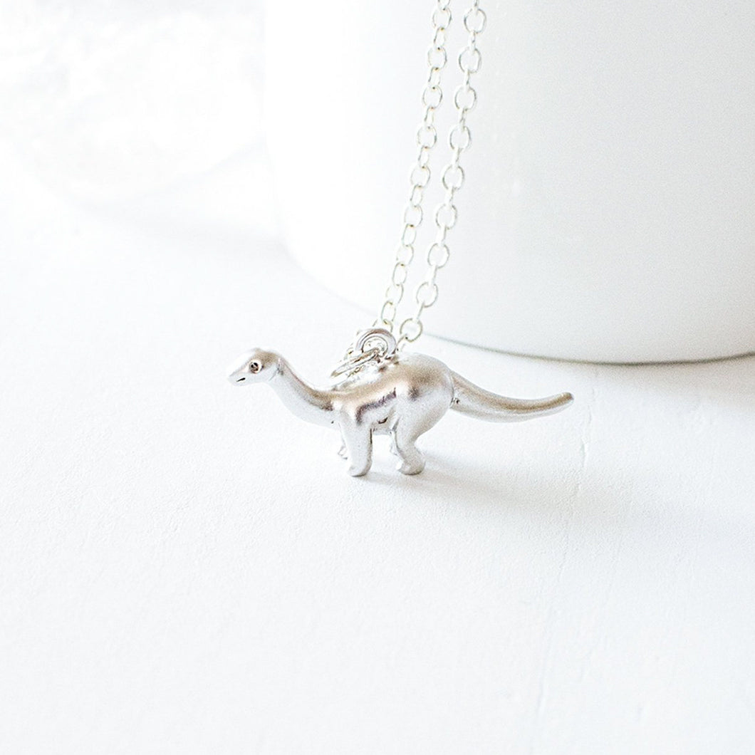 Silver Dinosaur Necklace