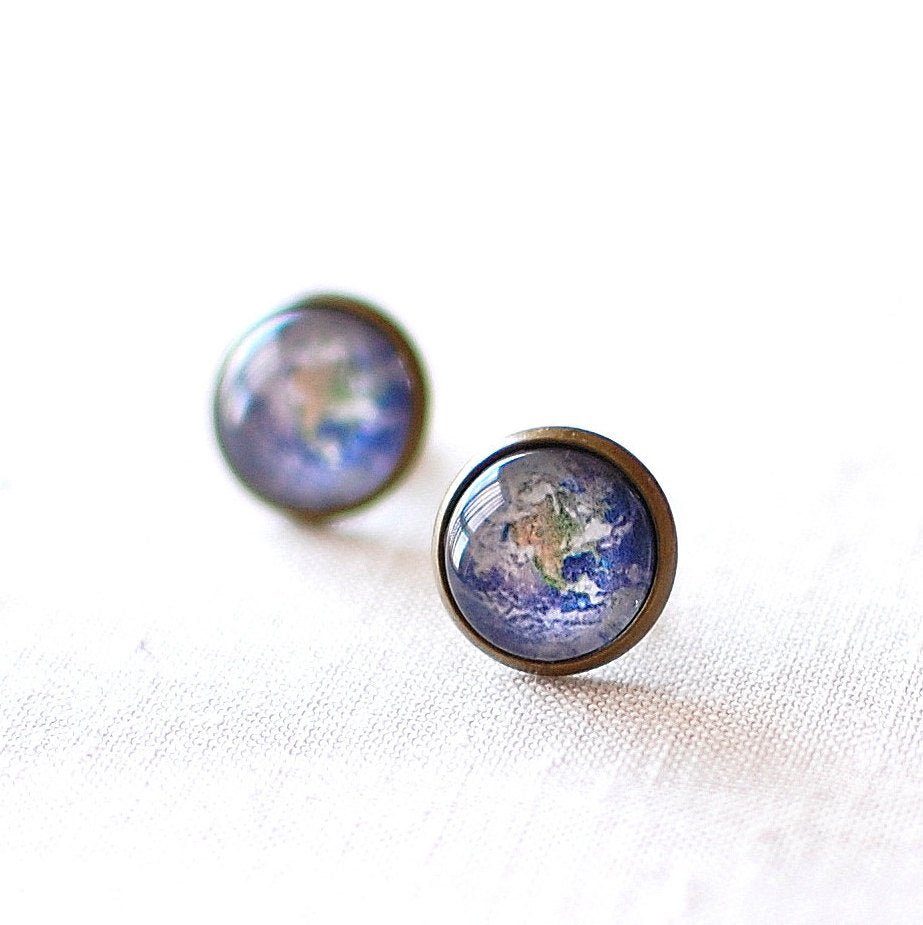 Planet Earth Earrings
