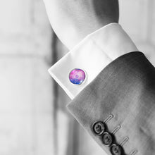 Pink and Purple Galaxy Cufflinks