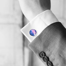 Blue and Pink Galaxy Cufflinks