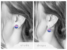 Blue and Pink Galaxy Earrings