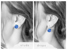 Blue Galaxy Earrings