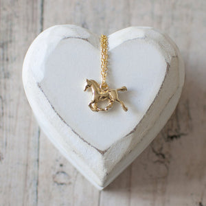Dainty Horse Charm Necklace