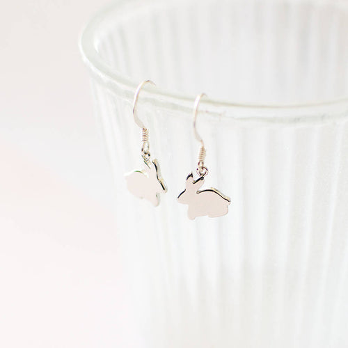Silver Bunny Earrings