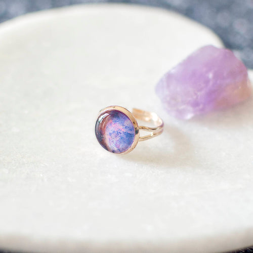 Pink and Blue Galaxy Ring