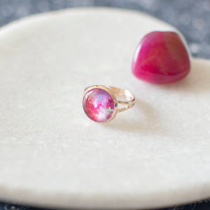 Pink and Magenta Galaxy Ring