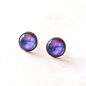 Purple Galaxy Earrings