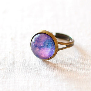 Purple Galaxy Ring