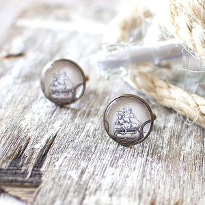 Vintage Sailing Ship Cufflinks