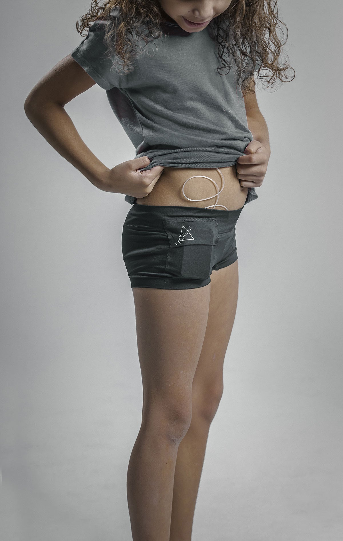 Girl's Boyshort Insulin Pump Pocket Underwear