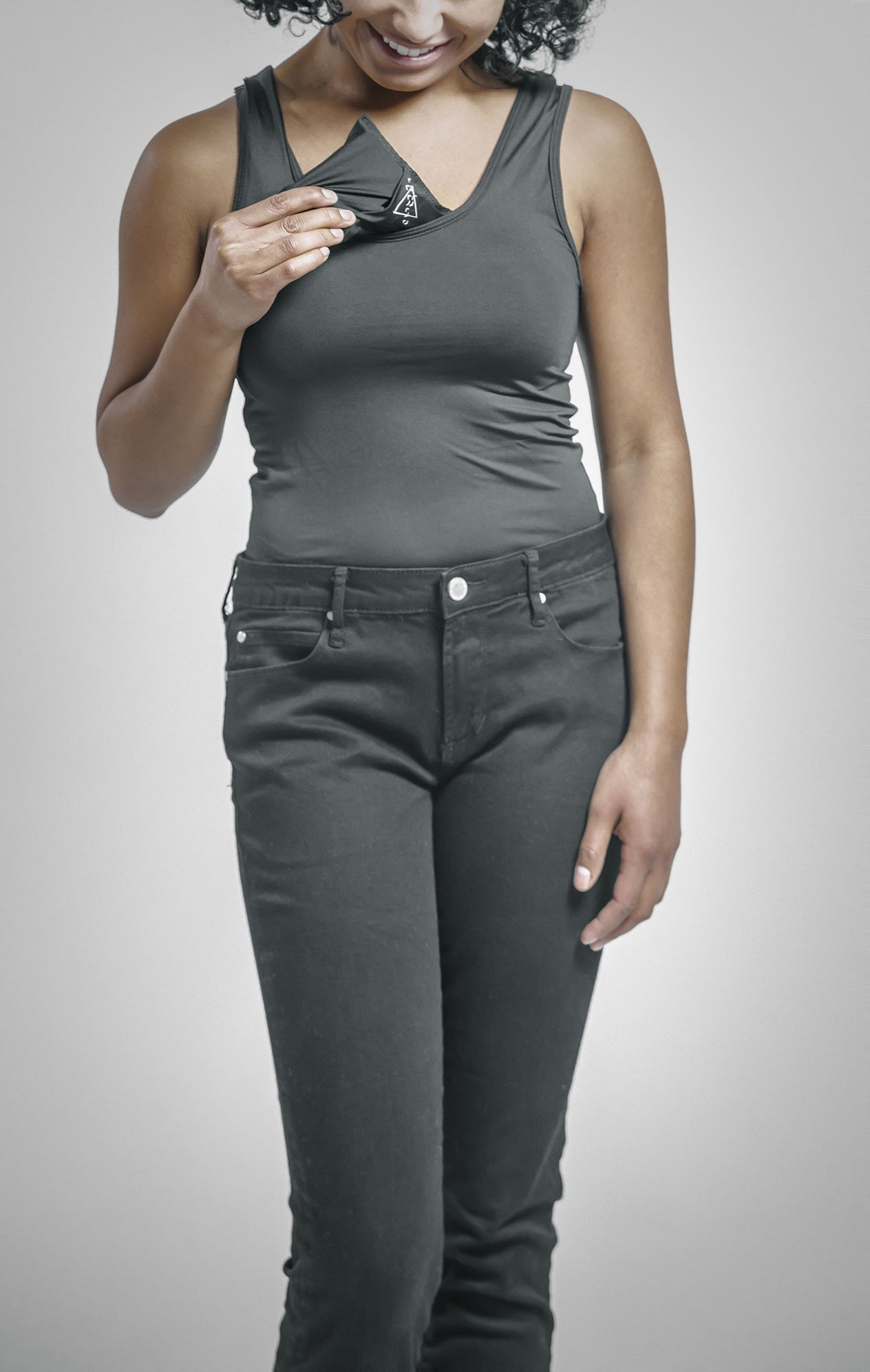 Women's Scoop Neck Tank with Flip Insulin Pump Pocket