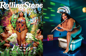 Just for the Fans—Lizzo Charts New Territory in Bijou Van Ness Custom Headpieces for Rolling Stone