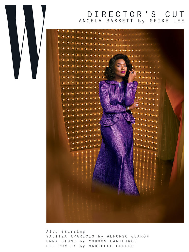 W magazine volume 2 2019 cover with angela bassett spike lee