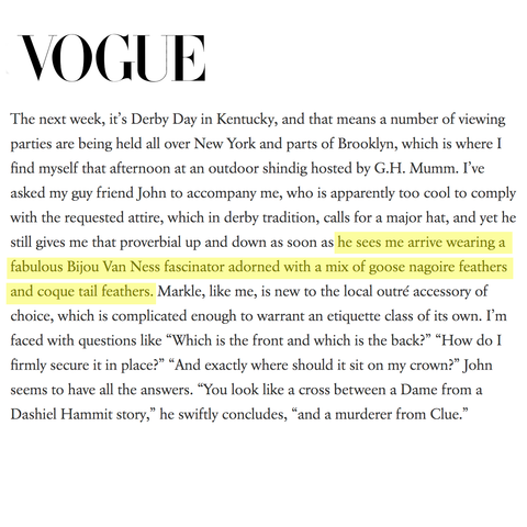 Vogue Features Bijou Van Ness