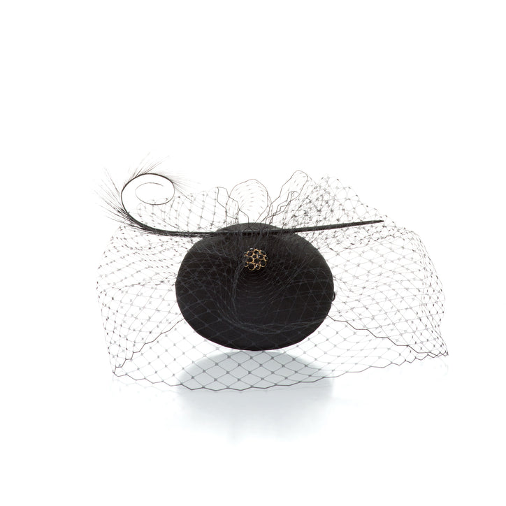 belle de nuit cocktail hat with veil