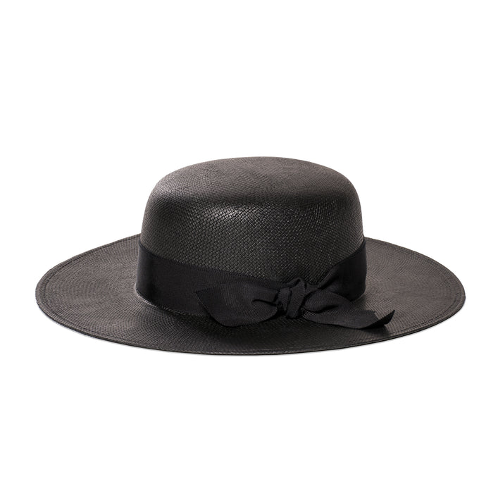 bijou van ness countess black straw hat