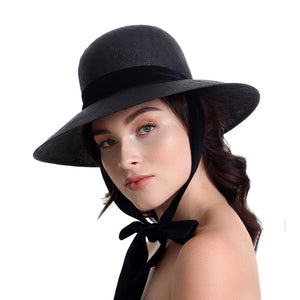 bijou van ness empress black straw hat