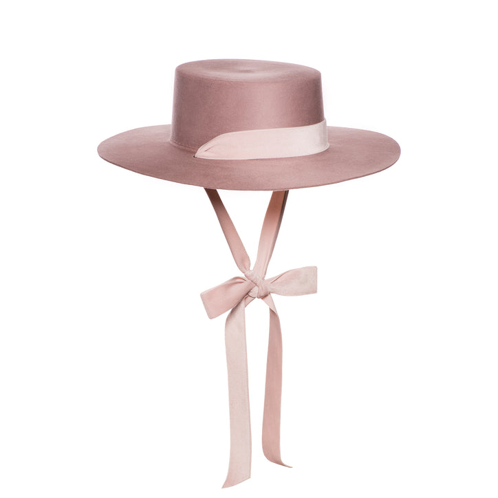 bijou van ness heiress hat felt blush