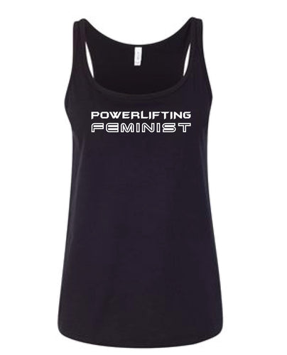 Powerlifting Feminist Black Tank