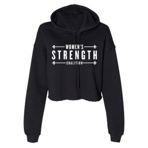 Women's Strength Coalition Crop Fleece Hoodie