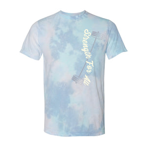 Strength For All Blue Tie Dye T-Shirt