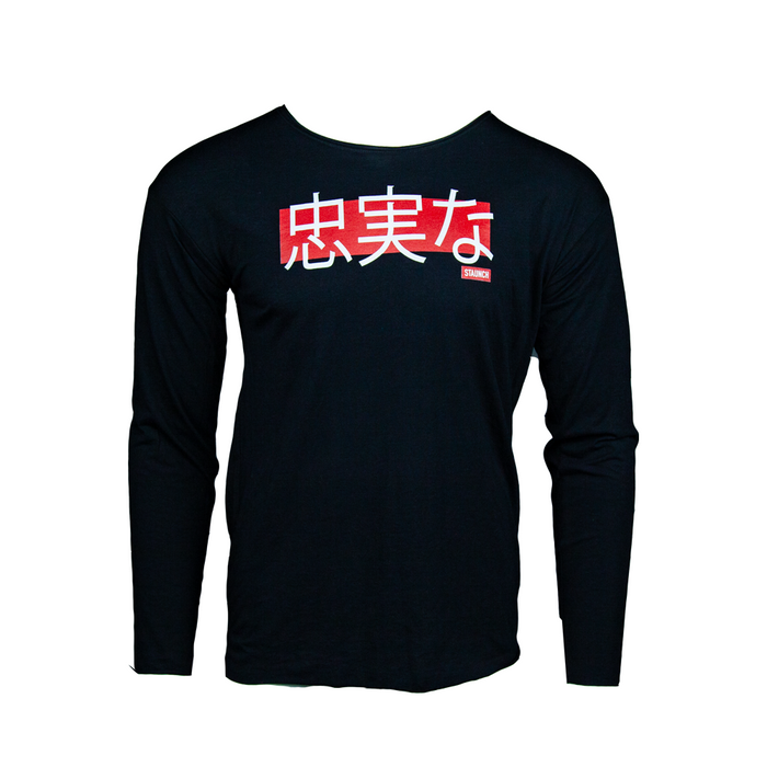 STAUNCH CHUJITSUNA RAW NECK LONG SLEEVE [Black]
