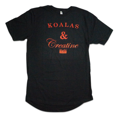 KOALAS AND CREATINE MEN'S FOIL LONG TEE [BLACK]