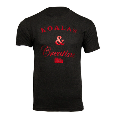 KOALAS AND CREATINE MEN'S FOIL TEE [BLACK]