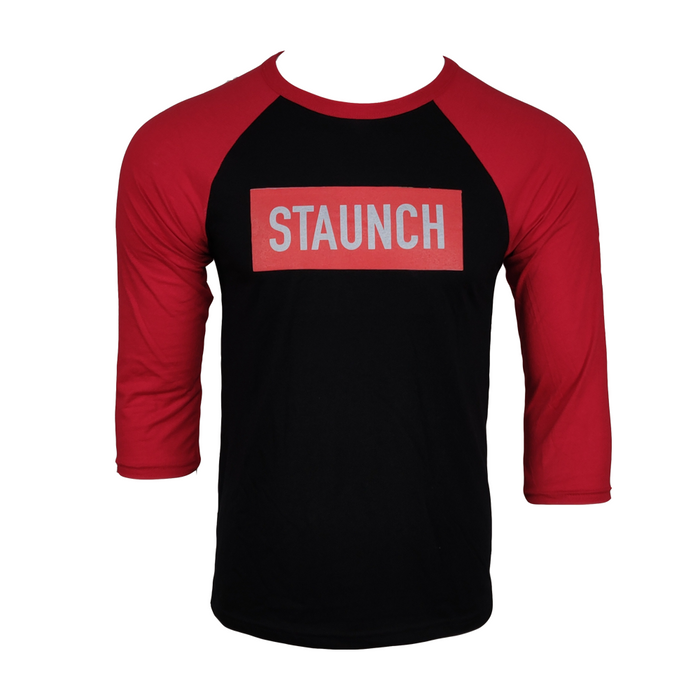 STAUNCH BASEBALL 3/4 TEE [BLACK/RED]