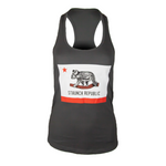 STAUNCH REPUBLIC WOMEN'S RACERBACK TANK [GREY]