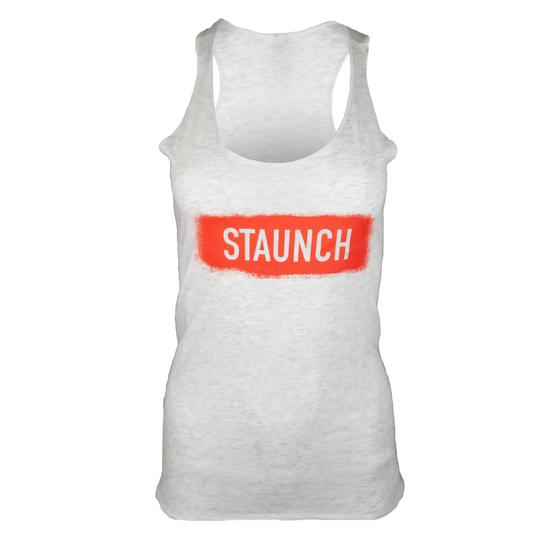 STAUNCH SPRAY RACERBACK TANK [HEATHER]