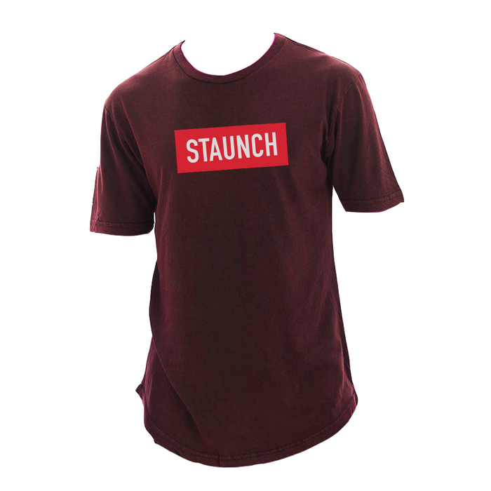 STAUNCH LONG BODY VINTAGE TEE [RED]