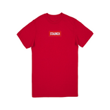 Staunch Embroidered Box Logo  (Red)