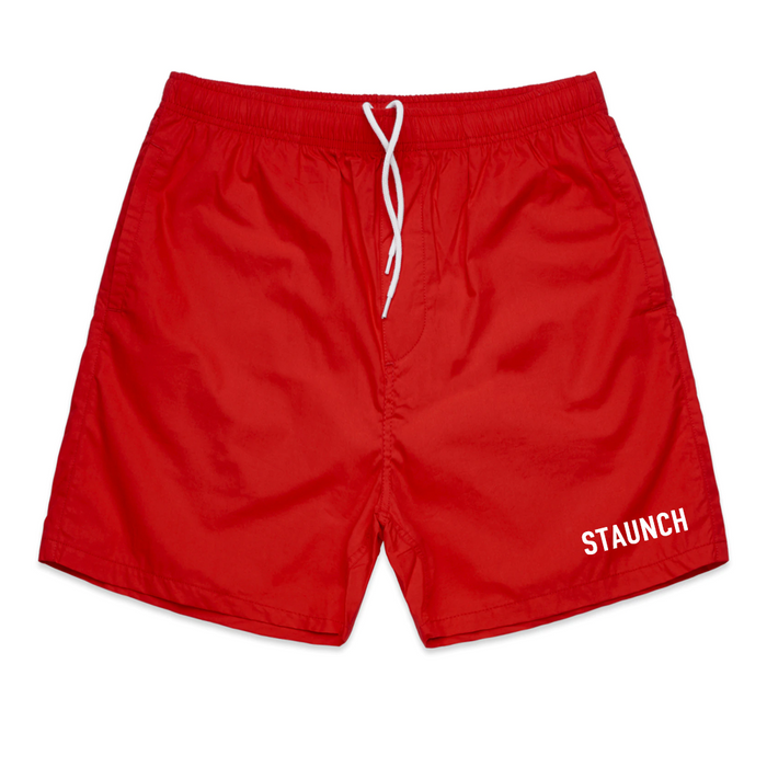 STAUNCH BEACH SHORTS [RED]
