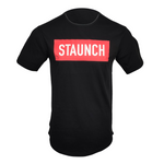 STAUNCH MEN'S DROP TAIL TEE [BLACK]