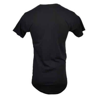 STAUNCH MEN'S LONG BODY TEE [BLACK]