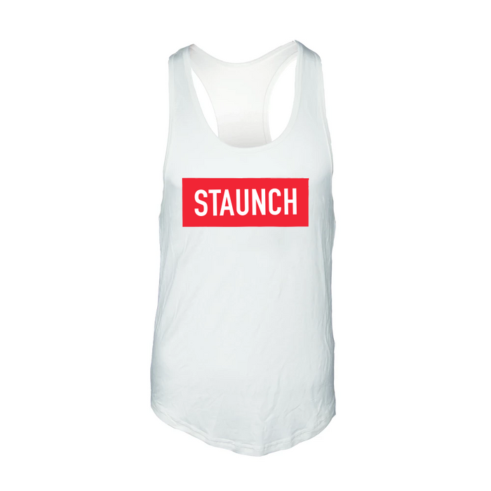 STAUNCH MEN'S Y BACK STRINGER [WHITE]