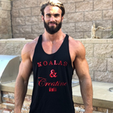 KOALAS AND CREATINE MEN'S Y BACK STRINGER [BLACK]
