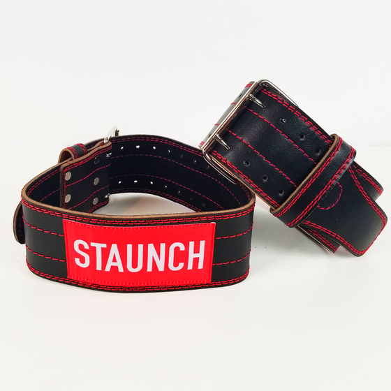 STAUNCH LEATHER WEIGHT LIFTING BELT