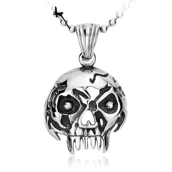 Old retro vintage mask pendant 316l stainless steel skullrage the broken pendant 316l stainless steel aloadofball Choice Image
